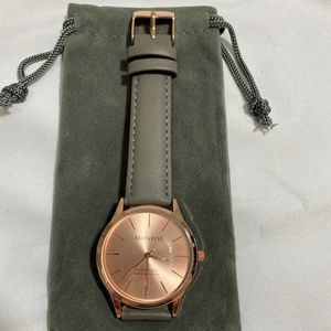 Monroe Solerose - Charcoal Leather Watch